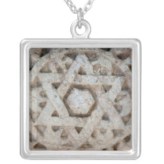 Vieille étoile de David découpant, Israël Pendentif Carré