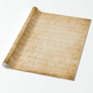 vieille feuille de musique vintage papier cadeau