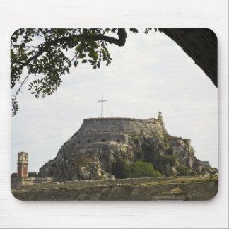 Vieille forteresse à Corfou Tapis De Souris