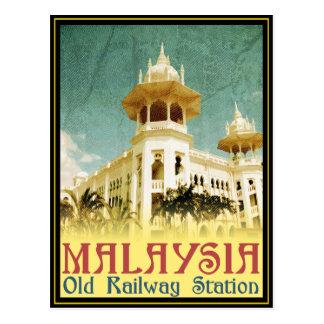 Vieille gare ferroviaire de la Malaisie Cartes Postales