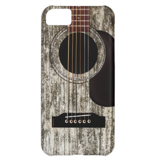 Vieille guitare acoustique en bois étuis iPhone 5C