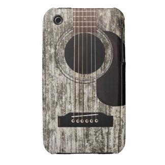 Vieille guitare acoustique en bois coques iPhone 3 Case-Mate
