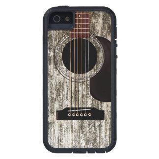 Vieille guitare acoustique en bois coques iPhone 5