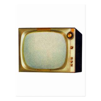 Vieille illustration vintage de téléviseur du carte postale