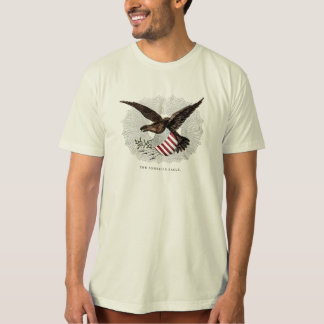 Vieille illustration vintage d'oiseau d'Eagle T-shirt