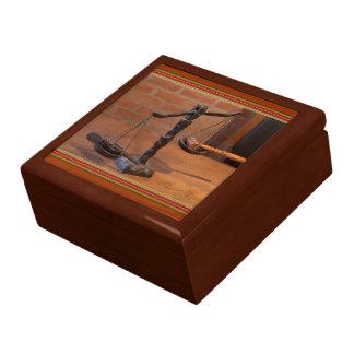 Vieille justice occidentale Giftbox Grande Boîte À Bijoux Carrée