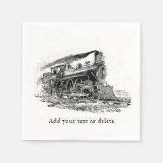 Vieille locomotive à vapeur serviettes jetables