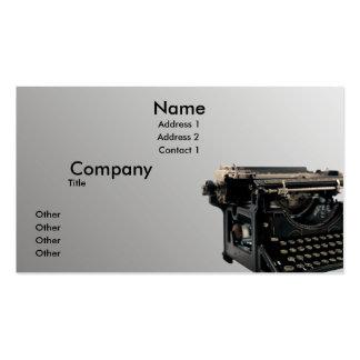 Vieille machine à écrire cartes de visite personnelles