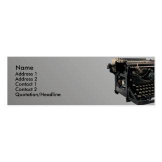 Vieille machine à écrire carte de visite petit format