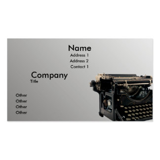 Vieille machine à écrire carte de visite standard