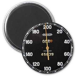 Vieille mesure de tachymètre d'une voiture de magnet rond 8 cm