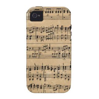 Vieille musique de feuille coques iPhone 4/4S
