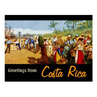 Vieille peinture de Rican de côte Carte Postale