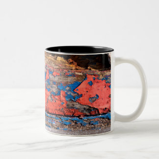 Vieille peinture tasse 2 couleurs