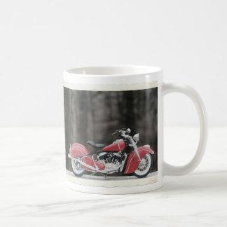 Vieille photo de moto de couleur tasse à café