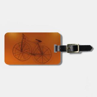 Vieille photographie de bicyclette de Timey Étiquette À Bagage