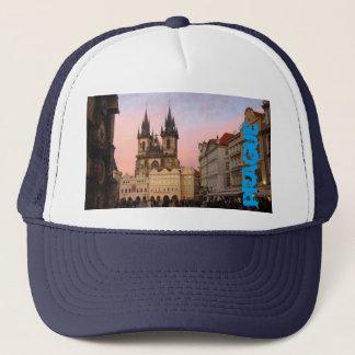 Vieille place de ville Prague, casquette de