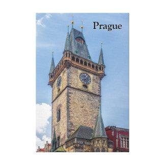 Vieille République Tchèque d'hôtel de ville de Toiles