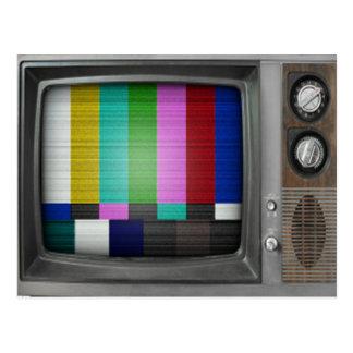 Vieille rétro nostalgie vintage de TV Carte Postale
