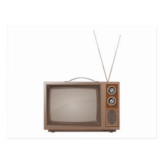 Vieille rétro TV Carte Postale