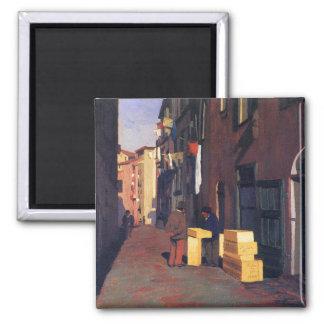 Vieille rue dans Nice l art Vallatton de peinture Magnets Pour Réfrigérateur