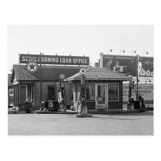 Vieille station service, les années 1920 cartes postales