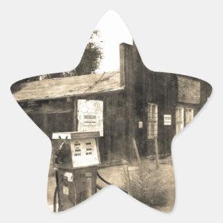 Vieille station service vintage sticker étoile