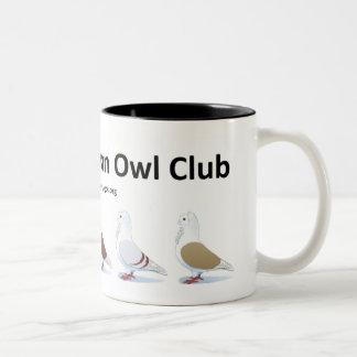 Vieille tasse allemande de club de hibou