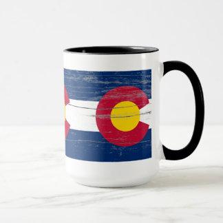 Vieille tasse de peinture du Colorado