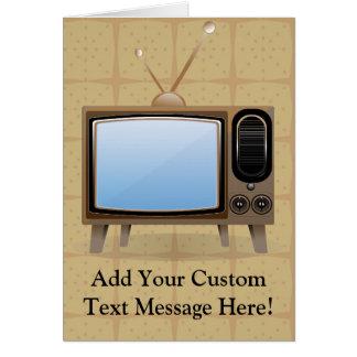 Vieille télévision vintage de plancher carte de vœux