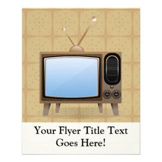Vieille télévision vintage de plancher prospectus 11,4 cm x 14,2 cm
