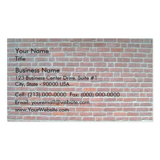 Vieille texture rouge de mur de briques cartes de visite personnelles