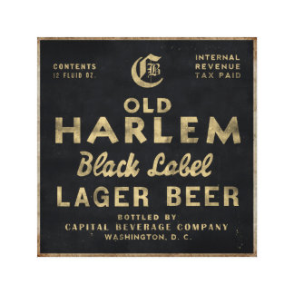 Vieille toile vintage de publicité de bière blonde