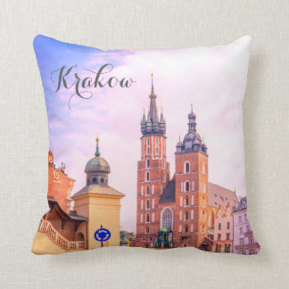 Vieille ville, Cracovie, Pologne, coussin de