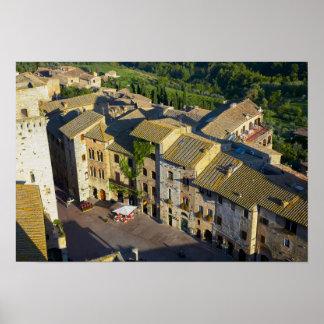 Vieille ville de San Gimignano, Sienne, Toscane, Poster