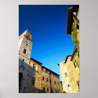 Vieille ville de San Gimignano, Sienne, Toscane, Posters