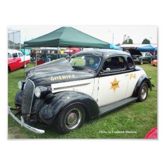 Vieille voiture de police impression photo