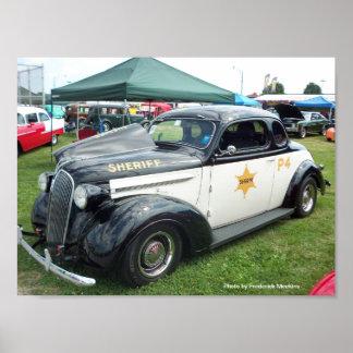 Vieille voiture de police poster