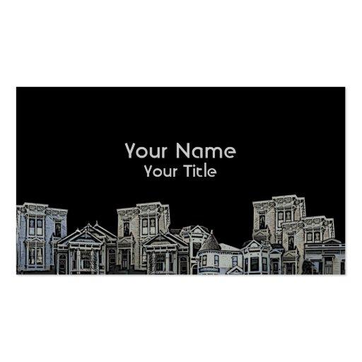 Vieilles cartes faites sur commande d'immobiliers  modèles de cartes de visite