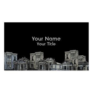 Vieilles cartes faites sur commande d'immobiliers carte de visite standard
