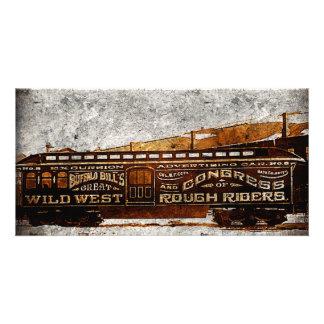Vieilles cartes occidentales sauvages sauvages de  cartes avec photo