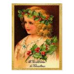 Vieilles cartes postales de Noël de mode