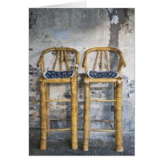 Vieilles chaises en bambou dénommées, Xitang, Carte De Vœux