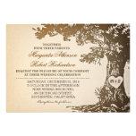 vieilles invitations vintages de mariage de chêne