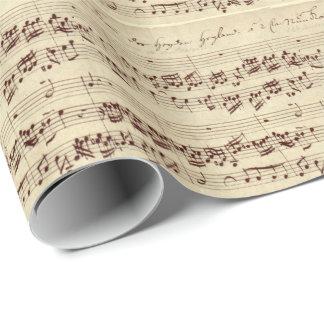Vieilles notes de musique - feuille de musique de papier cadeau noël