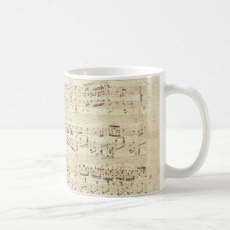 Vieilles notes de musique - feuille de musique mug