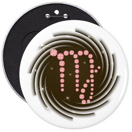 Vierge 23 août au 23 septembre de bouton badge