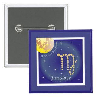 Vierge 23 août au 23 septembre de bouton badge carré 5 cm