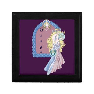 Vierge celtique petite boîte à bijoux carrée