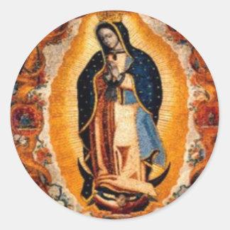 Vierge de Guadalupe Sticker Rond